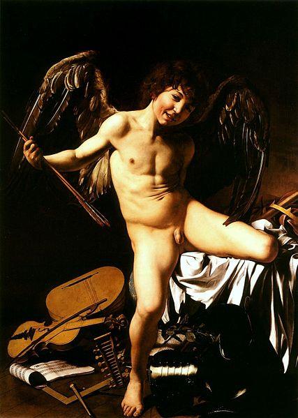 427px-Caravaggio_-_Amor_vincit_omnia