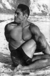 Rickson Gracie Yoga Beach Stretch
